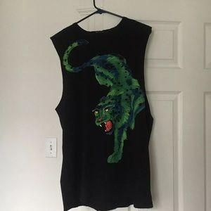 Zara green tiger print top